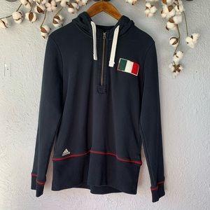 A.C. Milan Adidas Hoodie Black Soccer Sz L